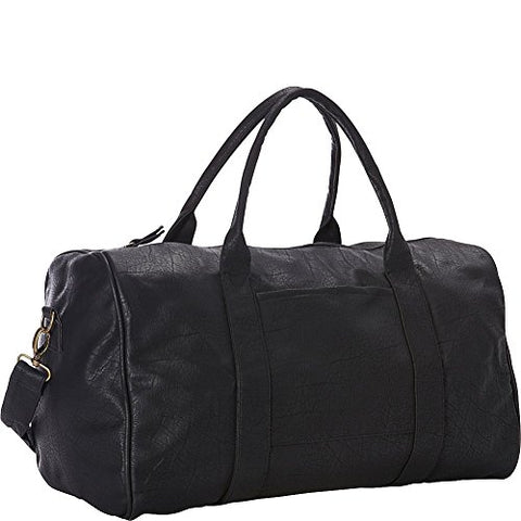 Goodhope Bags Pleather Duffel, Black