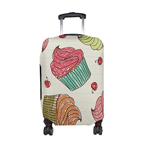 GIOVANIOR Cupcakes Cherry Luggage Cover Suitcase Protector Carry On Covers