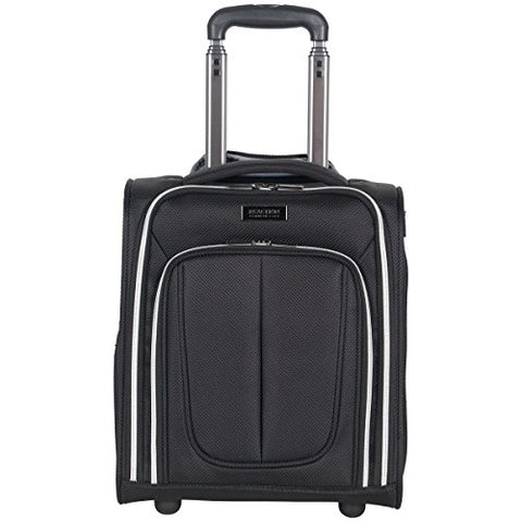 Kenneth Cole Reaction Lincoln Square 1680D Polyester 2-Wheel Underseater Carry-On, Black