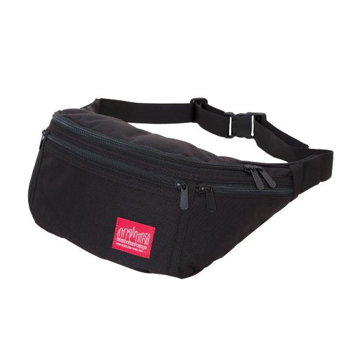 Manhattan Portage Alleycat Waist Bag with Zipper, Black, One Size