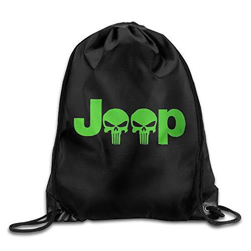 GBMVN Jeep Logo Unisex Drawstring Gym Sack Sport Bag