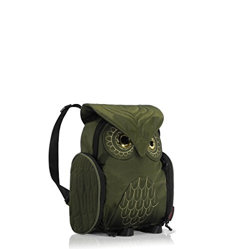 Darling's Owl Water Resistant Lightweight Mini Backpack - Small - Olive