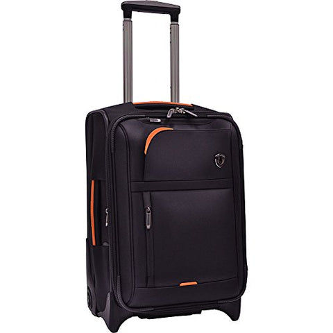 Traveler'S Choice  Birmingham Lightweight Expandable Rugged Rollaboard Rolling Luggage - Black
