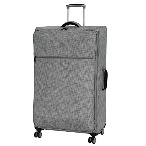 "it luggage 34.4"" Stitched Squares Lightweight Case, Flint Grey"