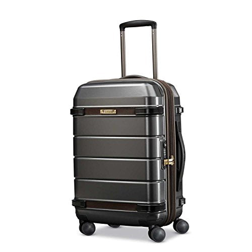 Hartmann Century Carry On Expandable Spinner Carry-On Luggage, Graphite/Espresso