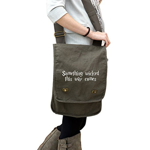 Something Wicked This Way Comes HP Inspired 14 oz. Authentic Pigment-Dyed Canvas Field Bag Tote