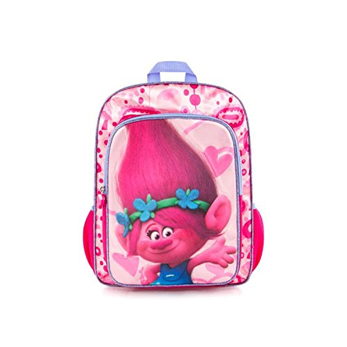 Trolls Backpack School Bag Poppy By Heys - Dreamworks, For Girls, 16 Inch With Adjustable Back
