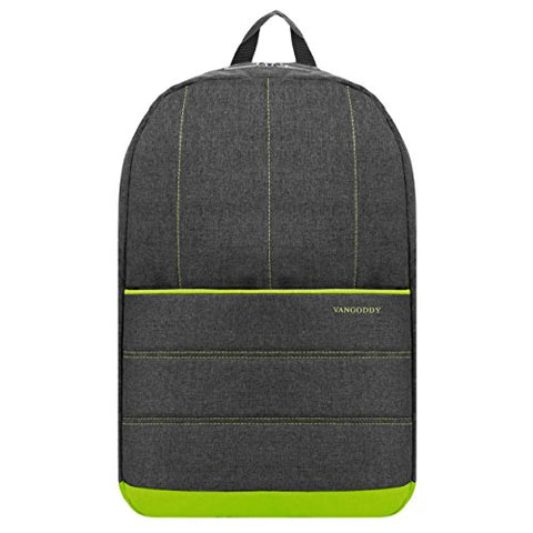 Vangoddy Green Trim Slim Laptop Backpack For Microsoft Surface Book / Surface Pro Series /