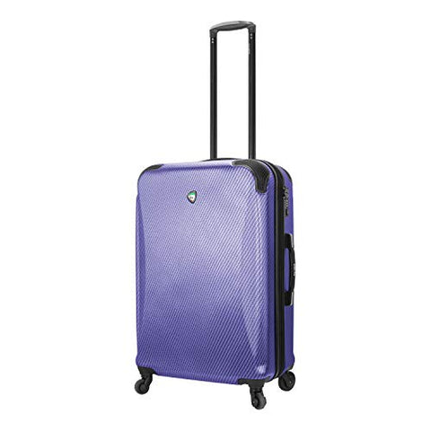 Mia Toro Italy Gaeta Hard Side 26 Inch Spinner Luggage, Blue