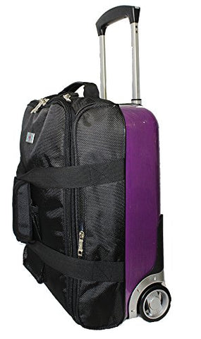 Boardingblue New Hard Side Airlines Personal Item Under Seat Luggage Purple