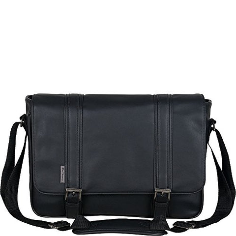 "Ben Sherman Luggage Sharply Curved Crossbody 15"" Laptop Messenger Bag (Midnight"