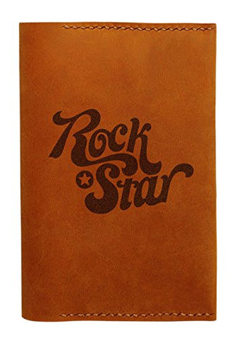 Rock Star Handmade Genuine Leather Passport Holder Case Hlt_01