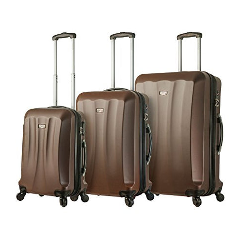 Viaggi Mia Italy Siena Hardside Spinner 3Pc Set, Brown