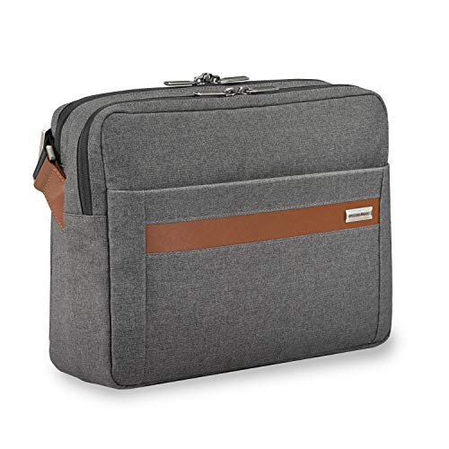 Briggs & Riley Kinzie Street Micro Messenger Laptop Bag, Grey, One Size