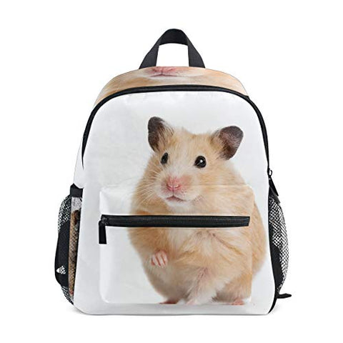 GIOVANIOR Cute Hamster Lightweight Travel School Backpack for Boys Girls Kids