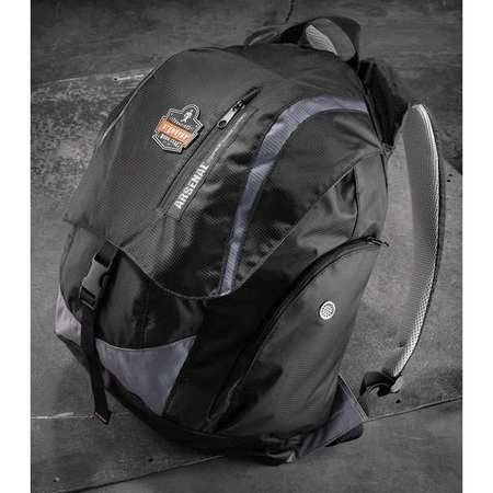 "18"" Backpack, 5 Pockets, Black"