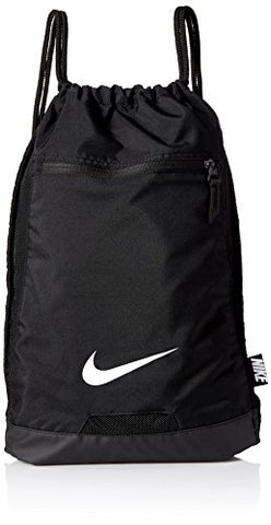 Nike Men's Alpha Gym Sack (Black/Black/White)