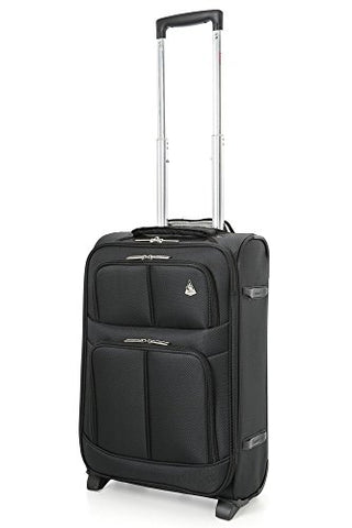 "Aerolite 22X14X9"" Carry On Max Lightweight Upright Travel Trolley Bags Luggage Suitcase, 2 Wheel,"