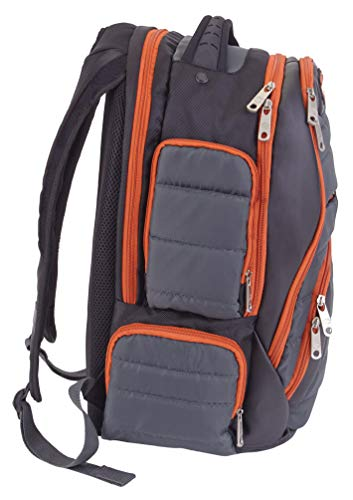 fc2d312ef0d3 Harley-Davidson Quilted Multi-Zippered Pocket Backpack 99319 GRAY/RUST