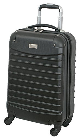 Geoffrey Beene 20 Inch Hardside Vertical Luggage, Black, One Size
