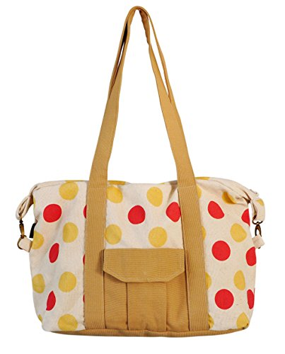 Polka Dot Polka Dot Print Picnic, Shopping Multi-Purpose Canvas Zipper Bag