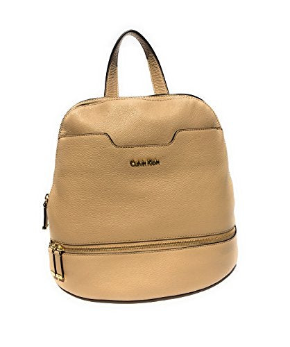 Calvin Klein Women's My Corner Leather Backpack, Nude