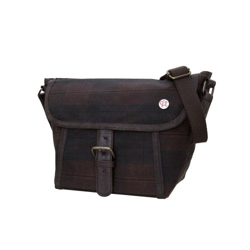 Token Bags Waxed Lincoln Messenger, Plaid, One Size