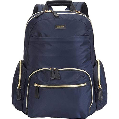 "Kenneth Cole Reaction Women's Sophie Silky Nylon 15.6"" (RFID) Laptop Backpack Navy One Size"