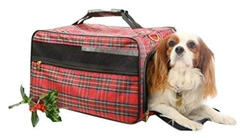 "Bark-N-Bag 20"" X 11"" X 11"" Tartan Collection Classic Pet Carrier, Large"