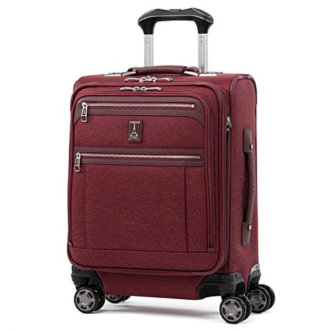 "Travelpro Luggage Platinum Elite 20"" Carry-On Intl Expandable Spinner With Usb Port, Bordeaux"