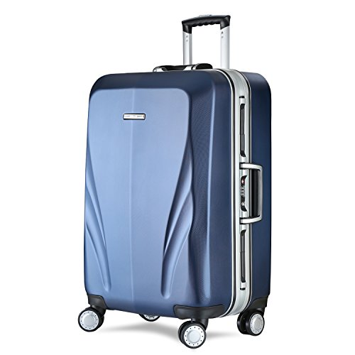 Unitravel Luggage Rolling Suitcase Lightweight Carry On Trunk With Spinner Wheels