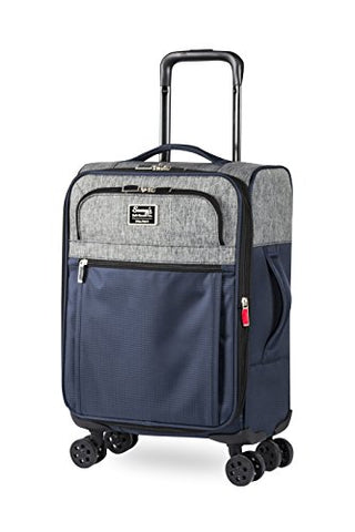 "Sammy'S Soft Goods Co. Duluth Expandable 20"" Suitcase, Navy/Grey"