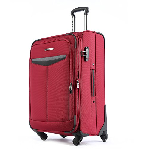 "Unitravel Expandable Luggage Lightweight Suitcase Spinner Wheels 20"" Carry On"