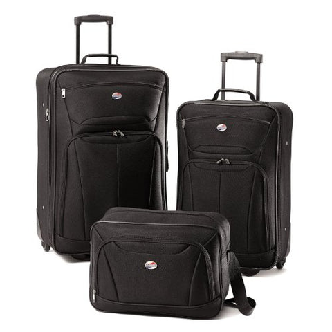 American Tourister Luggage Fieldbrook Ii 3 Piece Set, Black