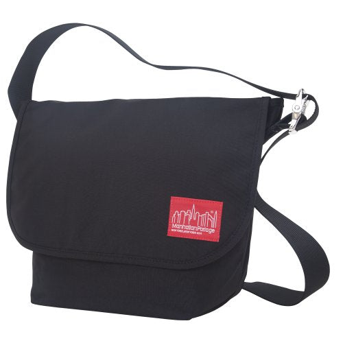 Manhattan Portage Vintage Messenger Bag, Black, Medium
