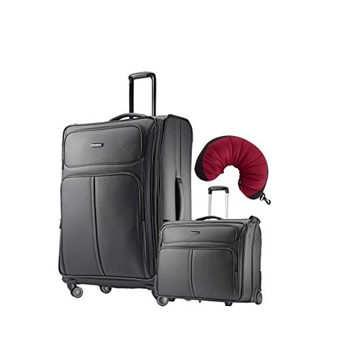 "Samsonite Leverage LTE 3 Piece Carry-On Bundle | 29"", Wheeled Garment Bag, Travel Pillow"