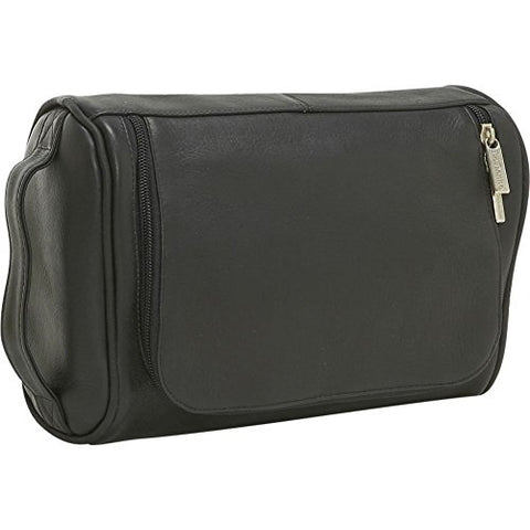 Ledonne Leather Toiletry Bag, Black