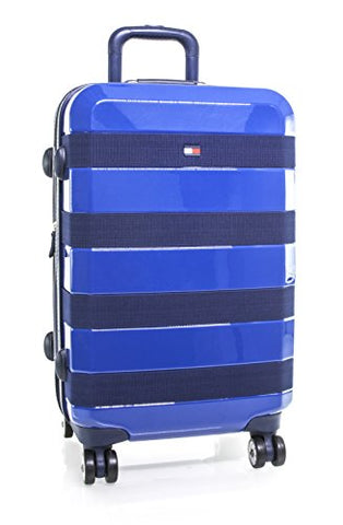 "Tommy Hilfiger Rugby Stripe 29"" Spinner, Hardside Luggage, Navy"