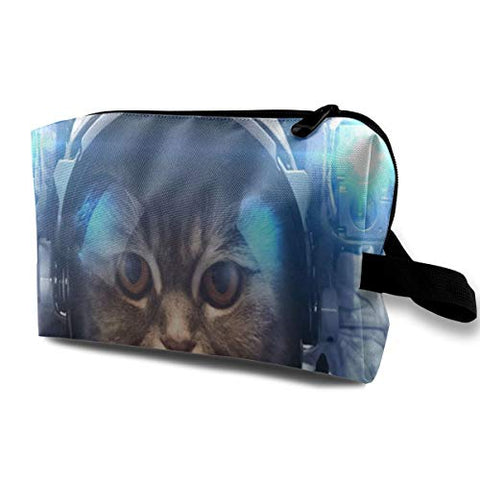 Makeup Bag Space Universe Cute Cat Kitten Handy Travel Multifunction Clutch Pouch Bags Hot