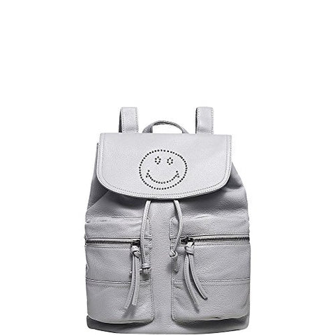 Vicenzo Leather Smile Backpack, Mirella, Grey