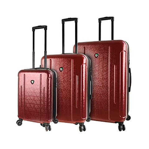 Mia Toro Italy Manta Hardside Spinner Luggage 3pc Set, Burgundy