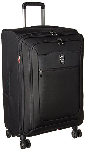 Delsey Luggage Hyperglide Medium Checked Luggage Lightweight Spinner Suitcase, Black