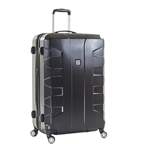 ful Luggage Laguna 29in Spinner Rolling Luggage Suitcase, Upright Hard Case, Black