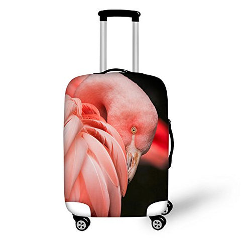Thikin 18-30 Inch Fashion Animal Crowned Crane Luggage Cover Productor For Travel