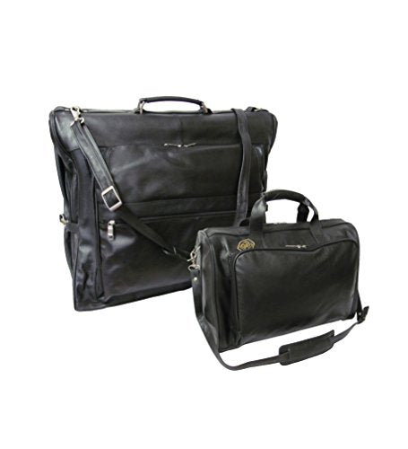 Amerileather Black Leather Two Piece Set Traveler