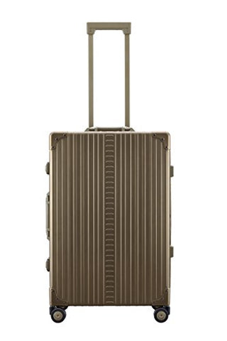 "Aleon 26"" Traveler Aluminum Hardside Checked Luggage (Champagne) Brown"