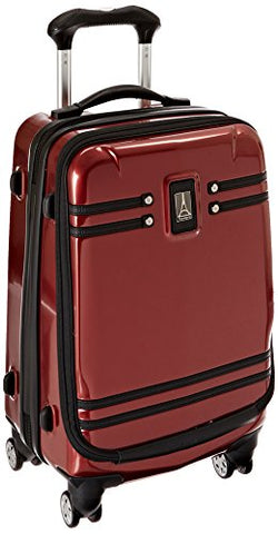 Travelpro Crew 10 19 Inch Hardside Spinner With Pocket, Merlot, One Size