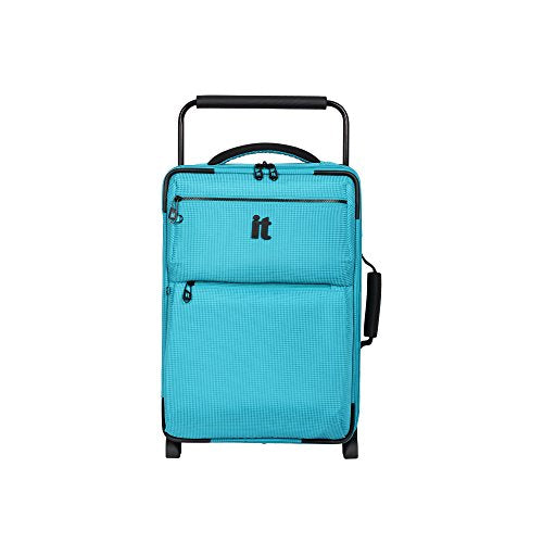 It Luggage World'S Lightest Los Angeles 21.5 Carry On, Turquoise 2 Tone