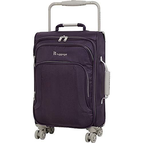 "IT Luggage 22"" World's Lightest 8 Wheel Spinner, Purple Pennant With Cobblestone Trim"