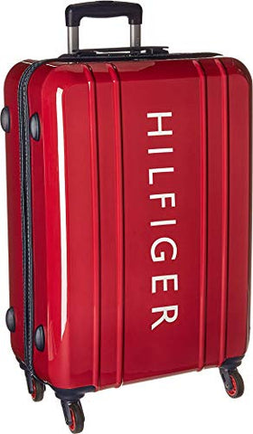 "Tommy Hilfiger Unisex 25"" Maryland Hardside Upright Suitcase Red One Size"